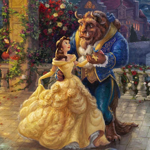 Belle and the Beast dancing - closeup