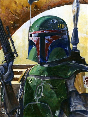 A battered Boba Fett