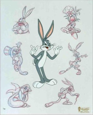 The many personalities - Bugs is an anthropomorphic gray and white rabbit who is famous for his flippant, insouciant personality.
