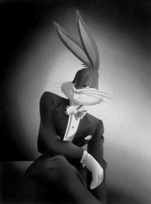 The Portrait Series illuminates Bugs Bunny in dramatic and stylized poses which darkens back to the 30s and 40s