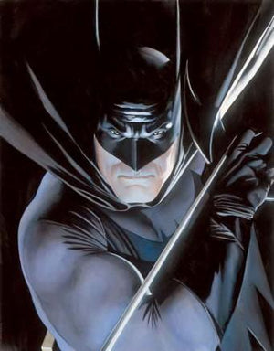Mythology: Batman by Alex Ross This image was featured on the back cover of Mythology: