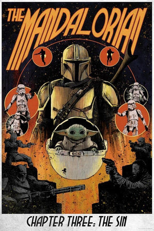 "Mando (the fan name of the nameless Mandalorian bounty hunter) returns the bounty and uses the reward to forge new armor. At the Covert underground lair, the other Mandalorian bounty hunters express their disdain with consorting with ""the enemy,"" in reference to the ""Great Purge"" where many Mandalorians, including Mando's family, were systematically killed (a la Order 66). They have since lived in hiding, appearing one at a time so as not to reveal their numbers. Now that Mando is the most sought bounty hun"