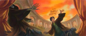 Harry Potter and Lord Voldemort - Harry discovers that a battle is breaking out at Hogwarts.
