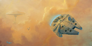 Escape From Cloud City - Star Wars Art