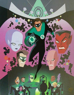 Green Lantern leading from the front.