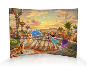 Jasmine Dancing in the Desert Sunset - Disney StarFire Print