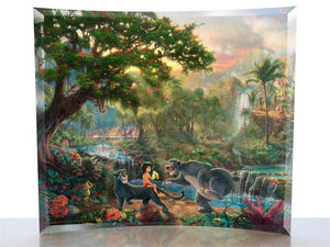 The Jungle Book small curved glass print