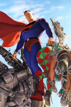"""Kingdom Come: Superman""- Features: Superman of the Kingdom Come Justice League. 50 Limited Edition Giclee on Paper. Size: 16"" x 20"". Artist: Alex Ross"