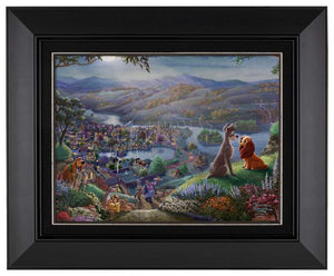 Lady and the Tramp Falling in Love  - Black Frame