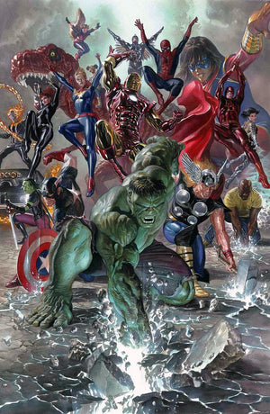 THe gathering of all the Avengers, draws on the history of Marvel Comics