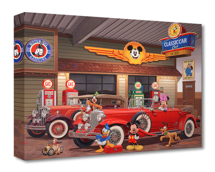 Mickey's Classic Car Club - Disney Treasures On Canvas