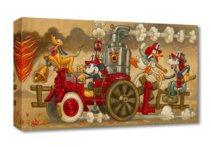 Mickey's Fire Brigade - Disney Treasures on Canvas
