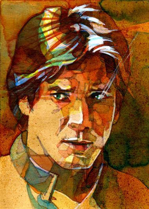 Vintage style portrait of young Han Solo