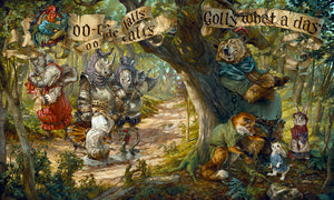 """Oo-De-Lally by by Heather (Theurer) Edwards   Based on the classic animated Disney feature 1973 film Robin Hood. - 24x30"