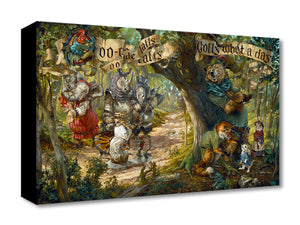 """Oo-De-Lally by by Heather (Theurer) Edwards   Based on the classic animated Disney feature 1973 film Robin Hood. - Gallery Wrap Canvas"