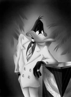 he Portrait Series illuminates Daffy Duck in dramatic and stylized poses which darkens back to the 30s and 40s