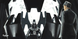 Darth Vader sitting in his meditation chamber. Inspired by Star Wars movie the Empire Strikes Back.