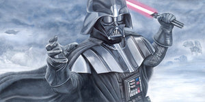 Darth Vader in battle.
