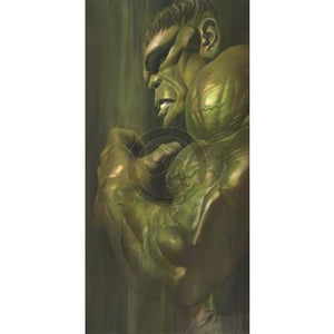 """Shadows: Hulk""- In the SHADOWS series, Alex Ross paints realistic portraits of classic heroes depicts a shadowed version of the Green Goliath."
