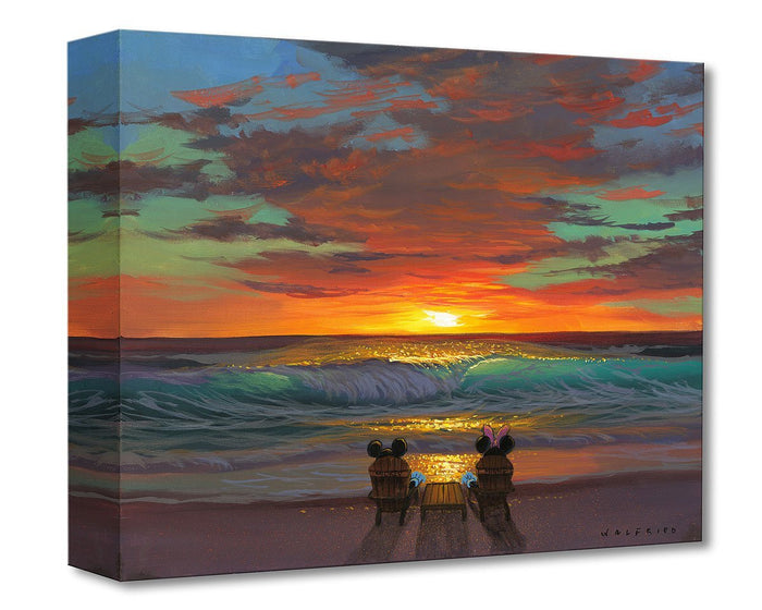 Sharing a Sunset - Disney Treasures On Canvas