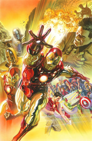Alex Ross Superior Iron Man 75th Anniversary, the many stages of Iron Man through the years.