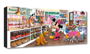 Trip to the Candy Store by Michelle St. Laurent  Mickey, Minnie and friend gather at the local Candy Store.
