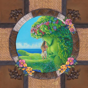 Te Fiti by Denyse Klette   Features Moana, and the godless Te Fiti sharing a moment, a poignant moments from Disney's Moana.