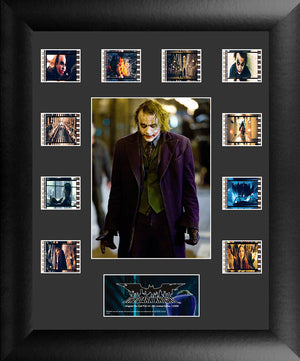 The Dark Knight, presentation featuring an image of the Joker.