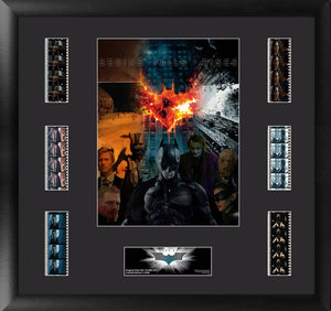 Batman and Villains film cells from The Dark Knight Trilogy, movie.