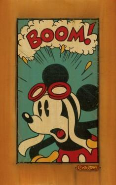 "Vintage Style - Pilot Mickey has surprised look in ""Boom!"""