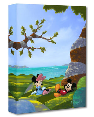Waves and Rays - Mickey and Minnie | Disney Treasures. Mickey and Minnie enjoying a relaxing romantic afternoon together...Art Style: Pop. Signed by artist Michael Provenza