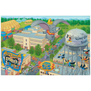 A Day at the Studio by Manuel Hernandez  The circus is in town, a trail of circus elephants parade through the streets of  Walt Disney's Studios, as Dumbo and Timothy watch from above, as they fly over the studio.