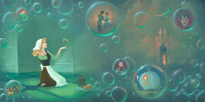 Cinderella is imagining living a fairy tale life, with her beloved Prince.