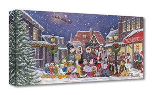 Gallery Wrap - Mickey and his friends gather around the village center to sing Christmas carols.
