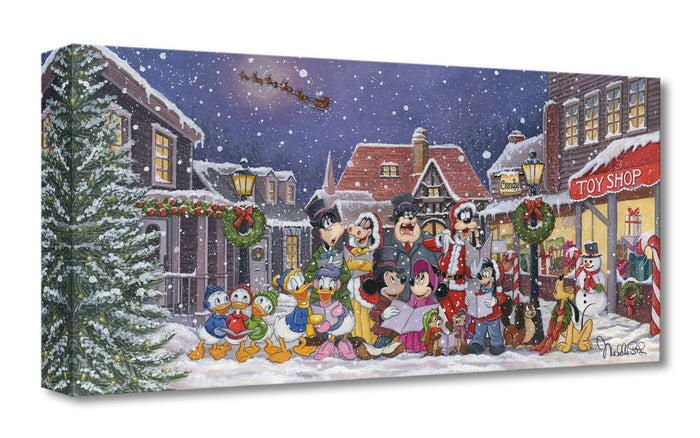 A Snowy Christmas Carol - Disney Treasures On Canvas