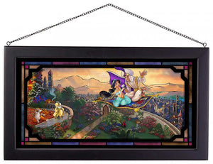 Aladdin - Framed Glass Art