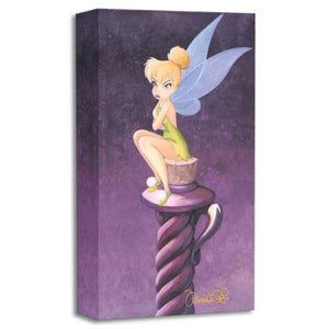 All Bottled Up by Michelle St. Laurent.  Tinker Bell is pouting as she sits on top of a cork bottle.