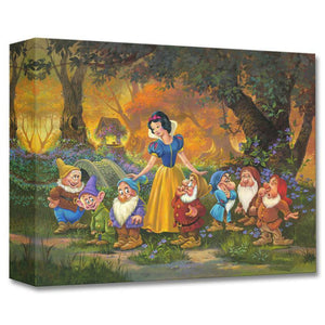 Among Friends by Michael Humphries  Snow White surround by her new found friends the Seven Dwarfs.