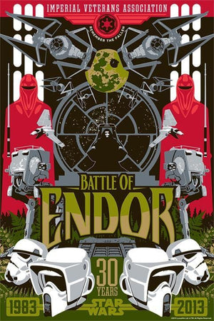 Battle of Endor - Star Wars Art