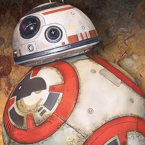 Portrait of astromech droid BB-8 - Closeup