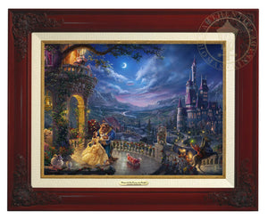 Belle and the Beast celebrate their love under the dreamy moonlit sky, with all their friend enjoying the moments - Brandy Frame.
