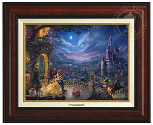 Belle and the Beast celebrate their love under the dreamy moonlit sky, with all their friend enjoying the moment - Burl Frame.