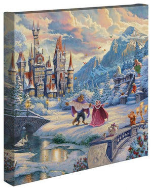 Beauty and the Beast's Winter Enchantment - Gallery Wrapped Canvas