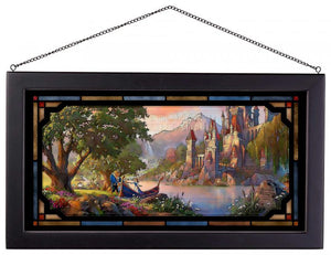 Beauty and the Beast ll - Framed Glass Art
