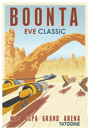 The Boonta Eve Classic was the largest annual podrace in the galaxy. Held on the planet of Tatooine,