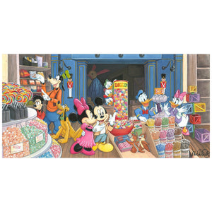 Mickey, Minnie and the gang of seven, browse through the local candy store, by Michelle St. Laurent.