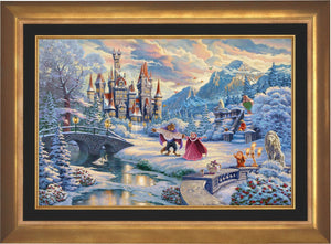 Beauty and the Beast's Winter Enchantment  - Aurora Gold Frame