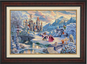 Beauty and the Beast's Winter Enchantment  - Burl Frame