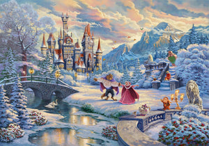 In Beauty and the Beast's Winter Enchantment, both characters come to realize that their friendship has blossomed into love. While the two dance in the crisp winter snow - Unframed