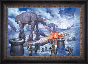 On the ice planet of Hoth™, the Rebel Squadrons battle the Imperial AT-STs™ and massive AT-ATs - Cabernet Frame